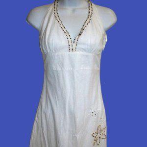 White Halter Dress Size 1